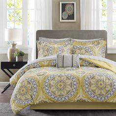 Madison Park Essentials Serenity California King Comforter Set In Yellow Twin Comforter Sets, King Comforter, Bedding Sets, Grey Comforter, Yellow Bedding, Bed In A Bag, King Sheet Sets, Cotton Sheet Sets, Cotton Sheets