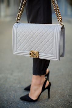 Grey #Chanel Boy Bag. Dreamy.