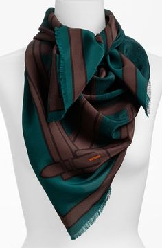 Brown hair, green eyes- brown and green print scarf. Note- this green is known as teal. Teal is a green with some blue. A perfect color for green eyes. Brown Hair Green Eyes, Hair Colour For Green Eyes, Brown Teal, Green Hair, Hair Color, Green Print, Burberry, Nordstrom, Silk