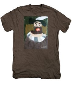 Patrick Francis Premium Mocha Heather Designer T-Shirt featuring the painting Rembrandt 2014 - After Rembrandt Self-portrait by Patrick Francis