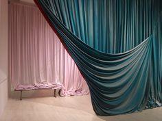 7 curtains by Ulla von Brandenburg Fabric Installation, Painted Curtains, Velvet Curtains, Curtain Designs, Draped Fabric, Stage Design, Set Design, Contemporary Art, Interior Design