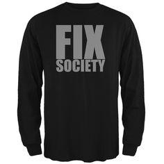 Please Fix Society Caitlyn Jenner Black Adult Long Sleeve T-Shirt