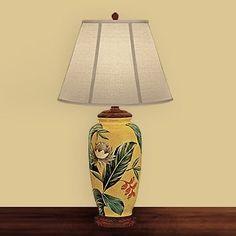JB Hirsch J15332 Palm Leaf Porcelain Table Lamp