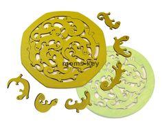 Деревянный пазл головоломка ручной работы Ящерки www.moms-key.ru