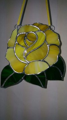 glass panels Stunning Pink Rose Suncatcher Full Bloom Rose Shaped Large Beautiful And It Will Never Wilt! 6 L and 5 W.