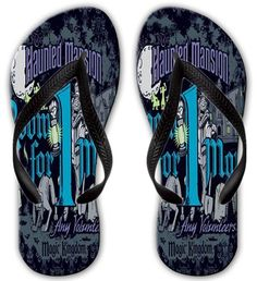 Unique Unisex Printed Haunted Mansion Beach Flip Flops Sandals For Men, Women And Teens >>> You can find more details by visiting the image link.