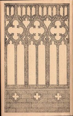 This graphic was actually used as an end paper from an old book. This wonderful engraving is a beautifully detailed gothic arch. This would make a great background for an ATC (artist trading card)!