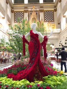 Flower dress at Macys Flower Show philadelphia