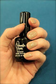 my taupe UV gel nail polish