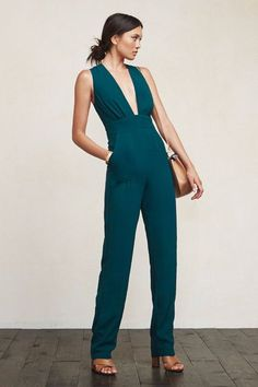 A Lesson In Fancy Jumpsuits, Courtesy Of Sienna Miller #refinery29  http://www.refinery29.com/2015/05/87527/sienna-miller-celebrity-jumpsuit-style#slide-6  A deep V is ideal for sweltering summer nights (and, the brand's RefScale lets you get your jumpsuit on with a clean conscience).