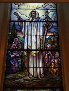 Description: Lockport, New York (NY): First Presbyterian Church: Isaiah - I Saw the Lord (1953, Payne-Spears Studio)