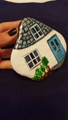 Painted stone by OneShopArt on Etsy