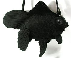 ヌバック革の金魚バッグ(大)