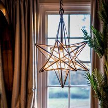 ILLUMINATED COPPER STAR CELESTIAL PENDANT LIGHT- DECOR FOR WEDDING, PARTY OR EVENT   Lighting Archives - Hire and Style | Hire and Style