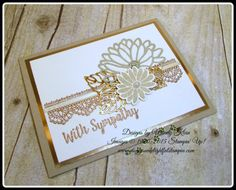 Stampin' Up!  Delicate Details,  Special Reason, Better Together, Stylish Stems framelits, Copper Foil, Copper embossing powder, pearls, Clear Wink of Stella - designed by Wendy Klein for Doggone Delightful Stampin'