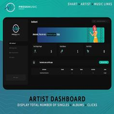 "PressMUSIC on Instagram: ""#UI PressMUSIC...⁠ ⁠ Your Artist #Dashboard, Add Singles, Albums, and More...⁠ ⁠ Create a stunning artist page to show off your music in…"""