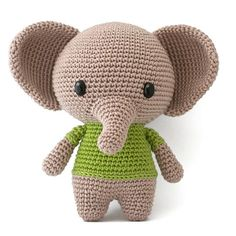 With this pattern by DIY Fluffies you will lear how to knit a Joe the Elephant amigurumi crochet pattern PDF step by step. It is an easy tutorial about animals to knit with crochet or tricot. Crochet Elephant, Elephant Pattern, Crochet Amigurumi, Crochet Dolls, Crochet Sloth, Stuffed Animal Patterns, Crochet Patterns Amigurumi, Cute Toys, Crochet Animals