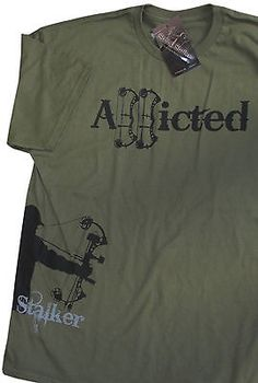 Archery String Stalker Addicted Bow Hunting T-shirt XL New