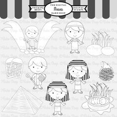 Moses Stamps - 10 graphics for your craft and creative projects.