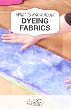 Heather Thomas loves the idea of making her own color through dyeing fabric…