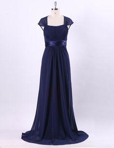 Ever-Pretty Plus Ruffles V-neck Cocktail Dresses Chiffon Long Evening Gown 07709