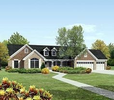 Split Bedroom Country Ranch Home Plan - 57143HA | Country, Traditional, 1st Floor Master Suite, CAD Available, PDF, Split Bedrooms | Architectural Designs