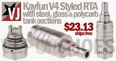 Vapor Joes - Daily Vaping Deals: LOWEST:  THE KAYFUN STYLE RDA VERSION 4 - $23.13