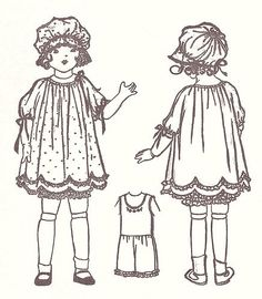 """Vintage Doll Clothes Pattern 1919A-18"""" ~ Antique Doll"""