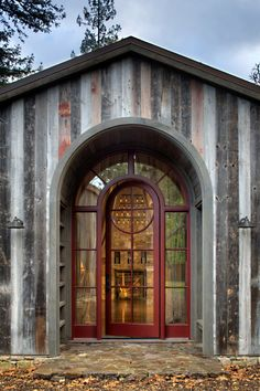 Unique and elegant cabin in northern California. Moroso Construction.