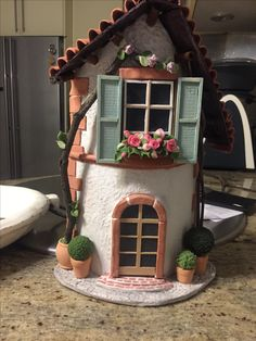 Clay houses, roof tiles, crafts - Wood How to Crafts Paper Clay Art, Paper Mache Crafts, Clay Crafts, Wood Crafts, Diy Crafts Slime, Pvc Pipe Crafts, Tile Crafts, Clay Fairy House, Fairy Houses