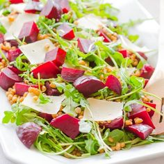 Arugula, Beet and Barley Salad HealthyAperture.com