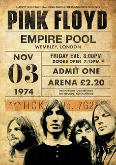 Discover recipes, home ideas, style inspiration and other ideas to try. Arte Pink Floyd, Pink Floyd Live, Rock Vintage, Retro Vintage, Vintage Concert Posters, Vintage Posters, Concert Rock, Pink Floyd Concert, Rock Band Posters