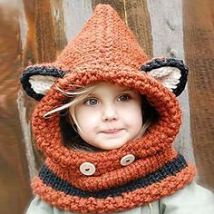 Kids Fox Hooded Scarf - Pompabee | YESSTYLE