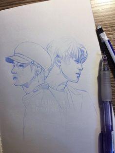 V & Jimin @BTS art