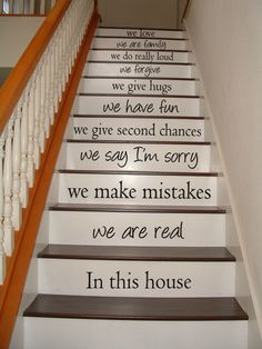 In this house we are real  STAIR CASE  Vinyl by VillageVinePress, $34.95