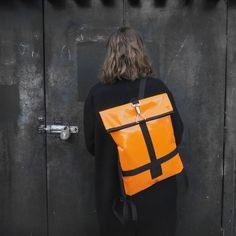 minimal urban backpack Orange Backpacks, Tarpaulin, Bradley Mountain, Night Out, Minimalism, Urban, Bags, Etsy, Products