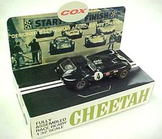 WANT: Cox Cheetah RTR 1/32 black slot car. First TTX100 (FT16) and then TTX150 (FT16D) powered. Pretty rare.