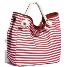 Street Level Nautical Stripe Canvas Tote ... nordstrom   Love!!