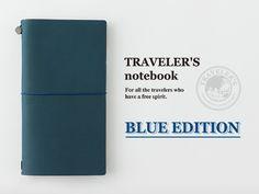 Midori TRAVELER'S Notebook // BLUE Limited Edition-31