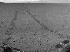 NASA leaves a visible mark of accomplishment on Mars; Curiosity's tire tracks seen from orbit -