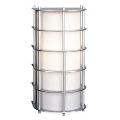 """Forecast Lighting F849141U 1 Light 5.5"""" Wide Wall Sconce from the Hollywood Hill Vista Silver Outdoor Lighting Wall Sconces Outdoor Wall Sconces"""