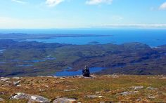 Taking in the views from the summit of #Suilven, looking toward the Summer Isles on our Wilds of #Assynt Trip