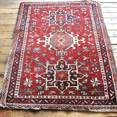 Cute red bohemian bedroom rug. Perfect Bohemian style vintage rug, bohemian wedding rug, bohemian home rug, bohemian home decor, bohemian room decor @etsy.