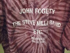 Steve Miller Band T Shirt  with John Fogerty! Great purple tie dye T shirt from this classic rock n roll band!