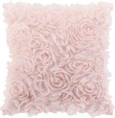 Zierkissen aus 100% Polyester in der Farbe Rosa. B/L: ca. 40/40cm.