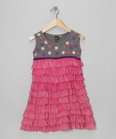Take a look at the Pink Ruffle Sleeveless Dress - Girls on #zulily today!