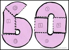 How to construct a number 60 shaped cake