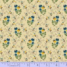 Marcus Fabrics -  Molly B's Bessie's Blues  -  R54 8032 0122