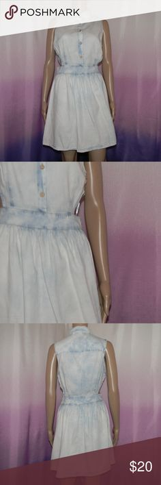"New Charlotte Russe Denim Cut Out Dress Size small, new without tags, 100% cotton, zipper side, cut out sides, 16.5"" bust, 14"" waist, 34"" long -Sorry NO TRADES and NO HOLDS -Ships from California -Comes from smoke free, dog friendly homes -I can't model at this time, the mannequin measurements are 32.5"" bust, 24"" waist, 34"" hips, and is 5'10"" and a size S/M -Items are measured by hand and done laying flat Charlotte Russe Dresses"