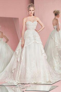 Strapless ball gown wedding dress. Zuhair Murad, Spring 2016